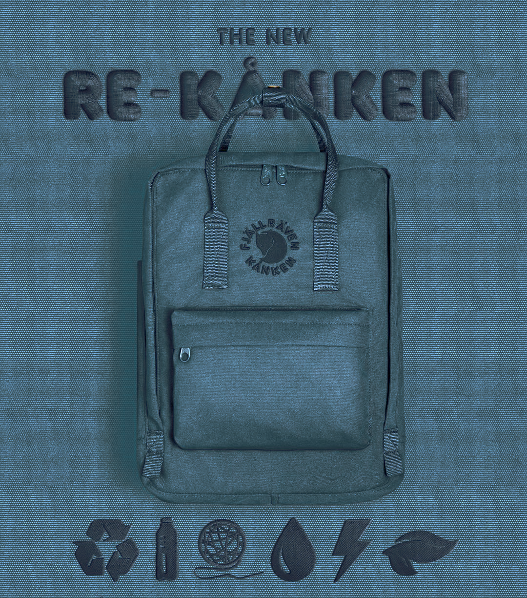 Рюкзак FjallRaven RE KanKen серо-синий