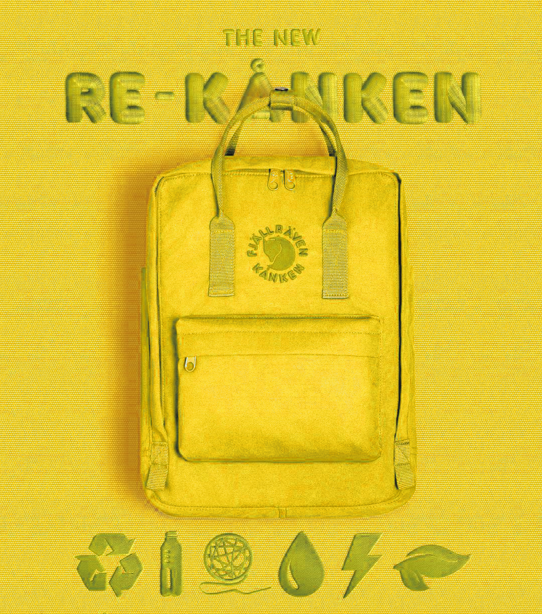 Рюкзак FjallRaven RE KanKen Желтый