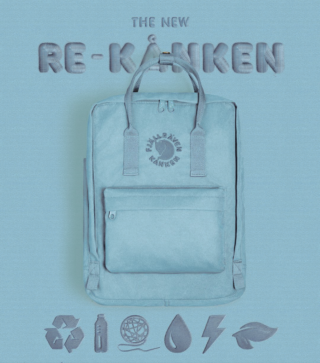 Рюкзак FjallRaven RE KanKen Голубой