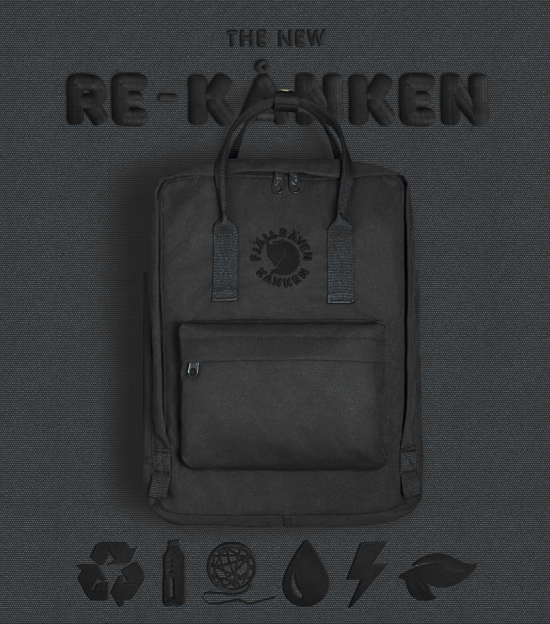 Рюкзак FjallRaven RE KanKen Черный
